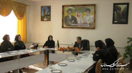 برگزاری آخرين جلسه كارگروه بانوان و خانواده شهرستان آق قلا در سال ۹۲