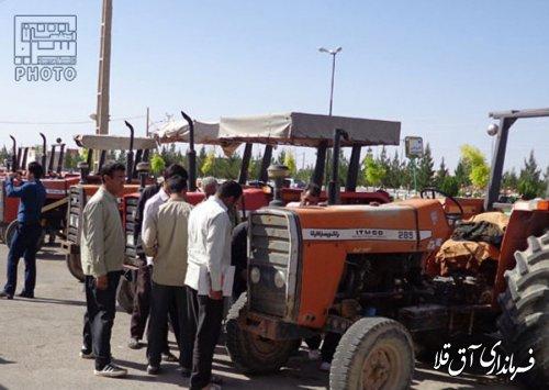 اجرای طرح پایلوت شماره گذاری ماشین های کشاورزی بخش مرکزی آق قلا