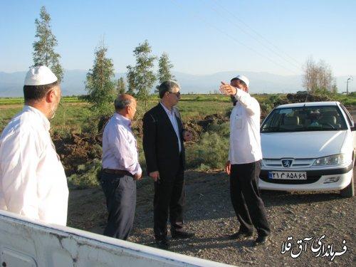 تاکید فرماندار آق قلا بر لایروبی کانال های هدایت آب روستای اوچ تپه