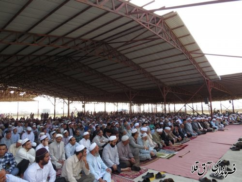گزارش تصویری از برگزاری نماز باشکوه عید سعید قربان در شهرستان آق قلا