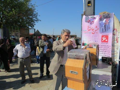 گزارش تصویری حضور فرماندار شهرستان آق قلا در جشن عاطفه ها
