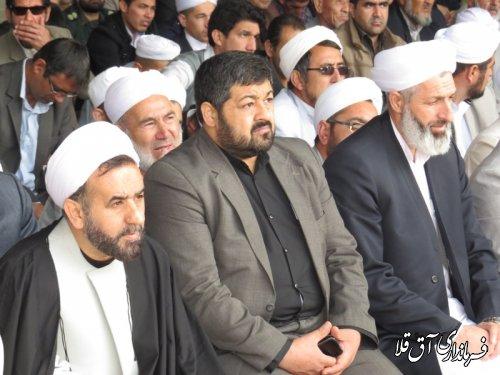 """مراسم بزرگ گرامیداشت عاشورا  """" صدقه عاشر آی """" در شهرستان آق قلا برگزار شد"""