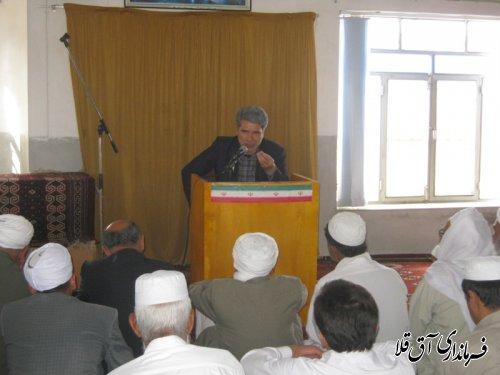 گزارش تصویری از حضور فرماندار در نمازجمعه روستای پیرواش سفلی