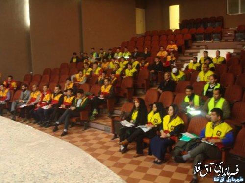 کارگاه آموزشی آتش نشان داوطلب در شهر آق قلا برگزار گردید