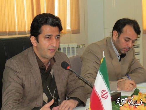 جلسه کمیته مناسب سازی محیط و مبلمان شهری شهرستان آق قلا برگزار گردید