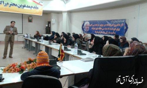 برگزاری کارگاه علمی ، آموزشی مهارت های فرزند پروری در شهرستان آق قلا