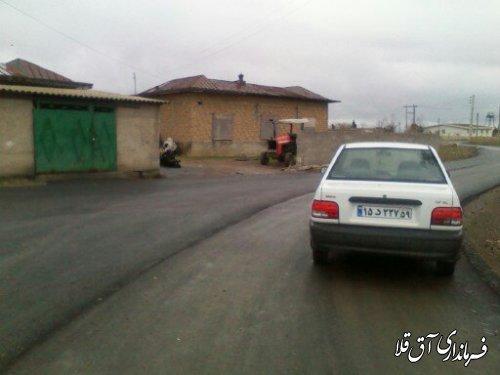بازدید فرماندار و مدیرکل امور روستایی استانداری گلستان از آسفالت روستای قلعه جیق