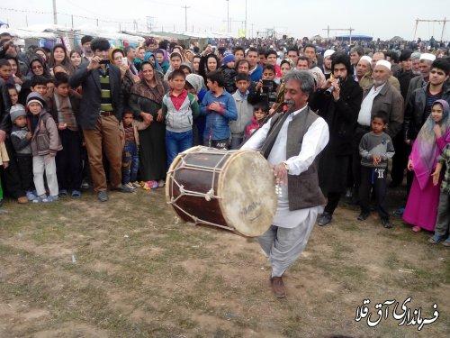 غرفه سیستانی های بخش وشمگیر در جشنواره نوروزی اقوام شهرستان آق قلا