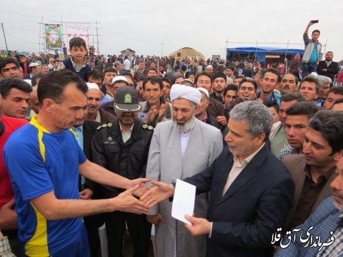 برگزاری مسابقات والیبال جام روز جمهوری اسلامی در جشنواره نوروزی فرهنگ اقوام آق قلا