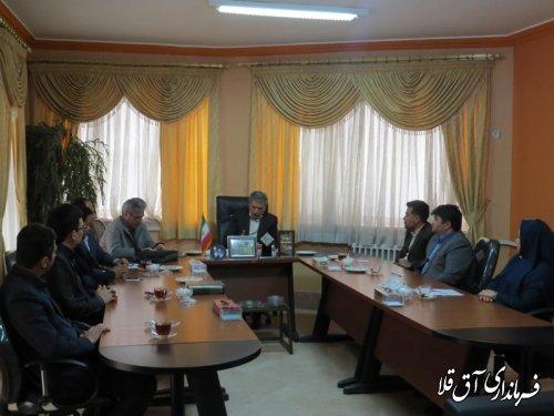 تقدیر ویژه اعضای شورای اسلامی شهر از فرماندارشهرستان آق قلا
