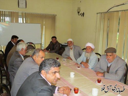 جلسه بررسی مشکلات آب مزارع  بخش وشمگیر برگزار گردید