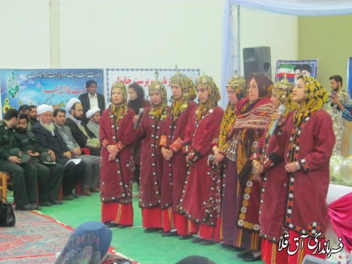 جشن میلادکوثر شهرستان با عنوان فاطمه الگوی همسرداری و فرزندپروری دین مدارانه برگزار گردید