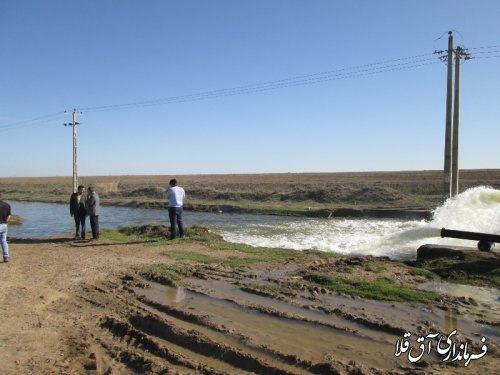 آبیاری 14000هکتار  مزارع غلات شهرستان آق قلا
