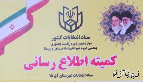 معرفی اعضای ستاد انتخابات شهرستان آق قلا
