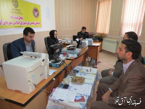ثبت نام داوطلبان نامزدی انتخابات شوراهای اسلامی در شهرستان آق قلا آغاز شد