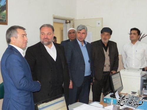 بازدید نماینده مردم شهرستانهای گرگان و آق قلا در مجلس شورای اسلامی از روند ثبت نام