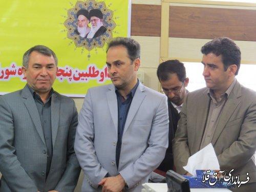 بازدید رئیس هیات بازرسی استان از ستاد انتخابات شهرستان آق قلا