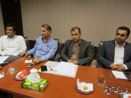 نوزدهمین جلسه ستاد انتخابات شهرستان آق قلا