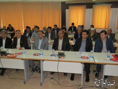 نشست صمیمی استاندار با هیات های اجرایی ، نظارت و بازرسی ستاد انتخابات شهرستان آق قلا