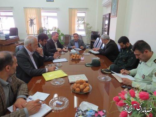 جلسه کمیته پیشگیری از جرائم و تخلفات انتخاباتی شهرستان آق قلا