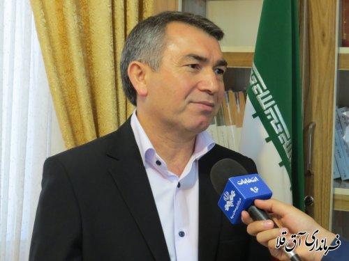 """79درصد مردم شهرستان آق قلا به ادامه کار دولت """"تدبیر و امید"""" رای دادند"""