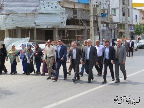 راهپمایی روز جهانی قدس شهر آق قلا به روایت تصویر