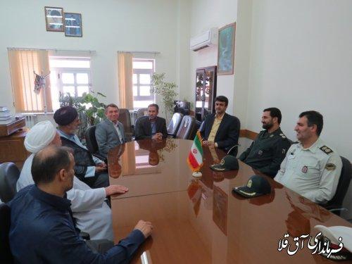 دیدار فرماندار با مسئولین قضائی شهرستان آق قلا