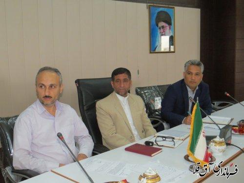 اولین جلسه کمیته مناسب سازی مبلمان شهری و شورای سالمندان شهرستان آق قلا