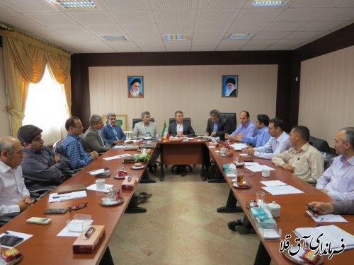 اولین جلسه شورای حفاظت از منابع آبهای زیرزمینی شهرستان آق قلا برگزار شد