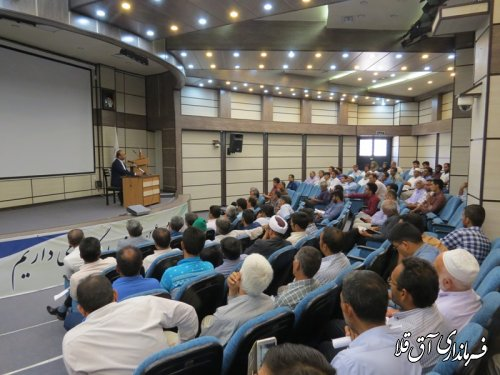 کارگاه آموزشی منتخبین شوراهای اسلامی روستاهای شهرستان آق قلا برگزار شد