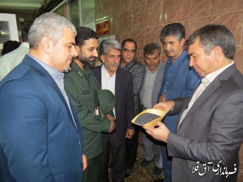 بازدید فرماندار و اعضای شورای تامین شهرستان آق قلا  از واحد تولیدی کانسار خزر