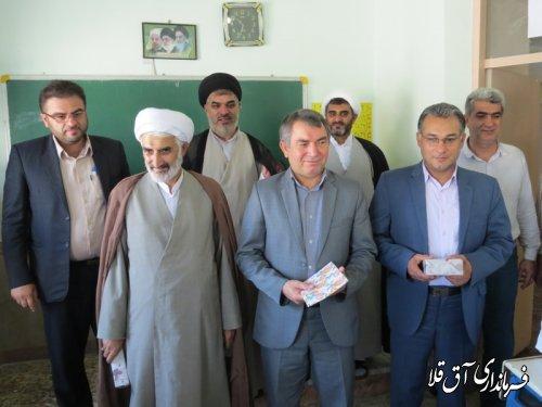 فرماندار شهرستان آق قلا از اجرای برنامه های قرآنی طرح اوقات فراغت بازدید کرد