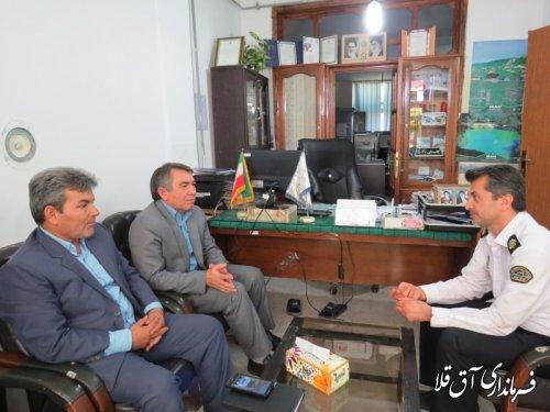 دیدار فرماندار با رئیس پلیس راهور شهر آق قلا