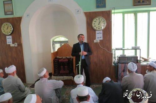 سخنرانی فرماندار شهرستان آق قلا به مناسبت گرامیداشت هفته دولت
