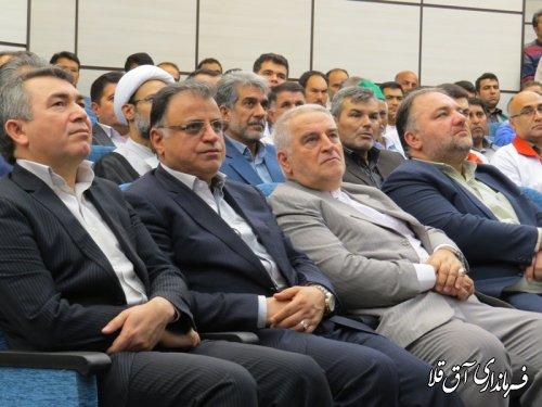 مراسم افتتاح متمرکز پروژه های هفته دولت شهرستان آق قلا برگزار شد