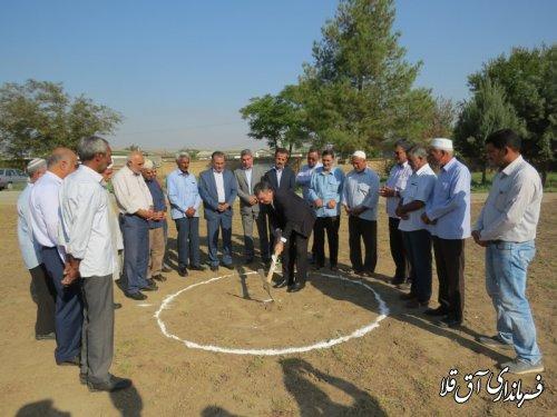 کلنگ هنرستان خیرساز کار و دانش در روستای عطا آباد به زمین زده شد
