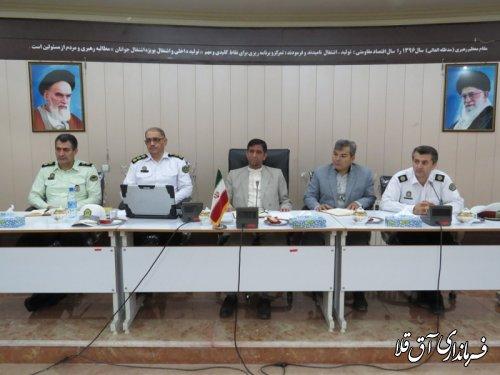 دومین جلسه شورای ترافیک شهرستان آق قلا برگزار شد