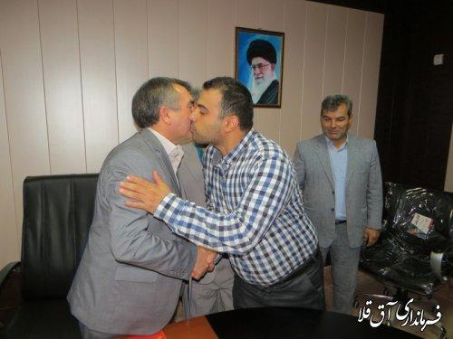 از کارمندان سادات فرمانداری شهرستان آق قلا تجلیل شد