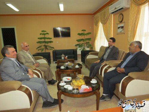 دیدار مدیر کل کمیته امداد امام خمینی(ره) استان با فرماندارشهرستان آق قلا