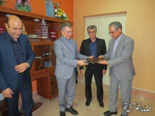 رئیس جدید اداره امور مالیاتی شهرستان آق قلا معارفه شد