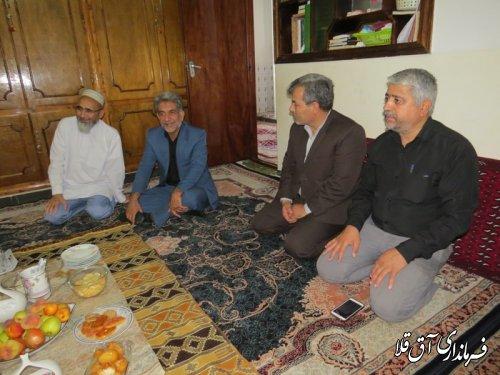 دیدار فرماندار و اعضای شورای تامین با ائمه جمعه و جماعات شهرستان آق قلا