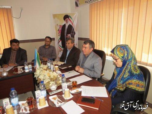 سومین جلسه کارگروه تخصصی سلامت و امنیت غذایی شهرستان آق قلا