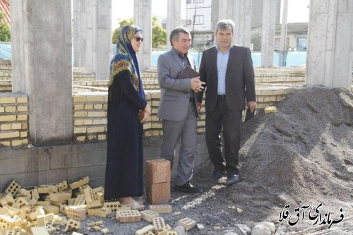 بازدید فرماندار از پروژه مرکز جامع سلامت شماره یک شهر آق قلا