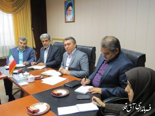 جلسه کمیسیون کنترل و ساماندهی اتباع شهرستان آق قلا برگزار شد