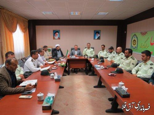 دیدار فرماندهی و پرسنل ستاد انتظامی با فرماندار شهرستان آق قلا