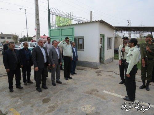 بازدید فرماندار شهرستان آق قلا از ستاد انتظامی بخش وشمگیر