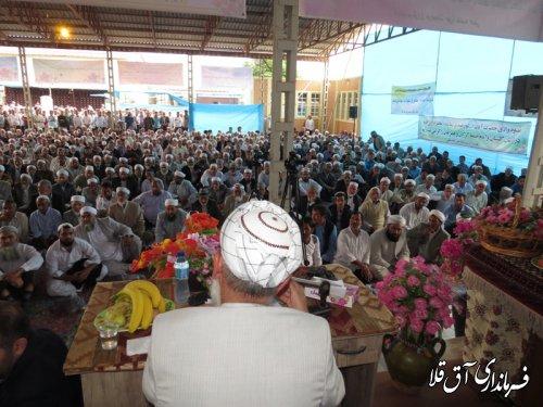 مراسم فارغ التحصیلی طلاب حوزه علمیه حنفی شهر انبار الوم