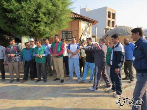 فرماندار شهرستان آق قلا در ورزش صبحگاهی شرکت کرد