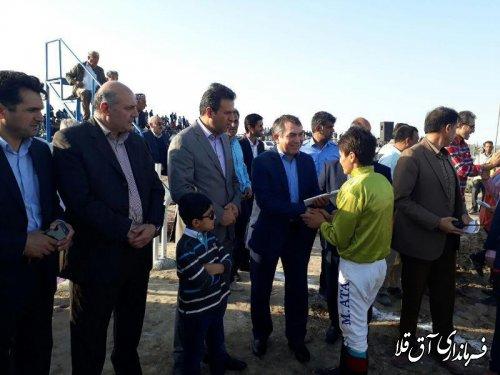 هفته دوم مسابقات اسبدوانی کورس پائیزه شهرستان آق قلا برگزار شد