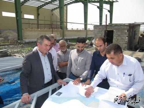 بازدید فرماندار از پروژه تصفیه خانه آب و فاضلاب شهر آق قلا
